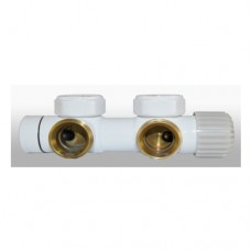Termostatinis šildymo kopetėlių mazgas twins, baltas